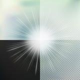Световой эффект зарева 10 eps Стоковое Изображение RF
