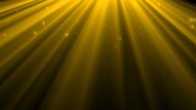 Световой эффект золота и накалять звезд Поднимая свет и bokeh золота Предпосылка летая золотые частицы в видео движения световых  акции видеоматериалы