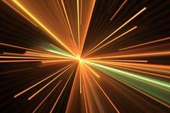 Световой эффект оранжевого зарева Взрыв звезды Стоковая Фотография RF