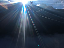 Световой эффект пирофакела солнца нерезкости Стоковая Фотография RF