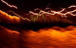 световые волны Гавайских островов стоковая фотография rf