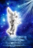 световые лучи ангела стоковая фотография