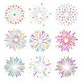 Световые лучи взрыва иллюстрация вектора