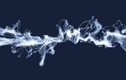 Световые эффекты электричества Массив с динамическими частицами футуристический стиль технологии 3d абстрактная предпосылка Стоковые Изображения