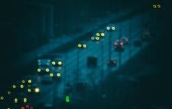 светов автомобилей старых стоковое изображение rf