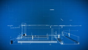 Светокопии здания провода 3d иллюстрация вектора