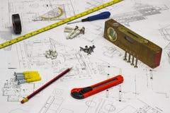 Светокопии и инструменты Стоковые Фото