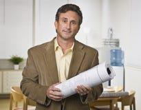 светокопии держа человека Стоковая Фотография RF