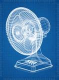Светокопия архитектора вентилятора таблицы бесплатная иллюстрация
