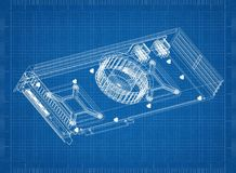 Светокопия архитектора графической карточки Стоковые Изображения RF