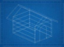 Светокопия архитектора дома собаки Стоковое Изображение RF