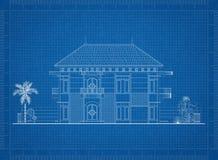 Светокопия архитектора дома Стоковые Фото