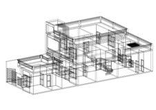 Светокопия архитектора дома Стоковые Изображения