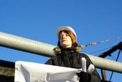 светокопия архитектора смотря молода Стоковое фото RF