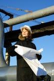 светокопия архитектора смотря молода Стоковая Фотография RF