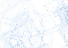 Светокопия архитектуры - план дома Стоковые Изображения RF