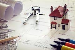 Светокопия плана дома Стоковое Изображение RF