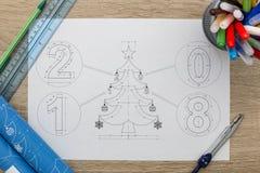 Светокопия рождественской елки Стоковая Фотография RF