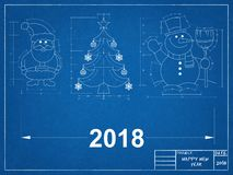 Светокопия символов Нового Года Стоковые Изображения RF