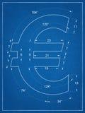 Светокопия символа евро Стоковое фото RF