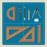 Светокопия с архитектурноакустическим профессиональным оборудованием Стоковые Изображения
