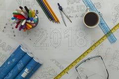 Светокопия 2018 Стоковые Фотографии RF