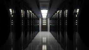 Светомаскировка в комнате сервера иллюстрация вектора