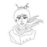 Светотеневой портрет девушки с прокалыванной губой Стоковое Фото