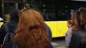 Светофоры в Стамбуле сток-видео