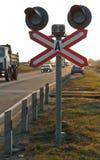 Светофоры, железнодорожный переезд стоковая фотография rf