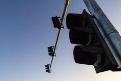 Светофоры и голубое небо стоковая фотография rf