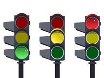 Светофор, вектор последовательности светофора Стоковое Изображение