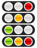 Светофор, значок лампы движения в комплекте Семафор с зеленым цветом, y иллюстрация вектора