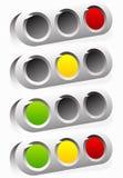 Светофор, значок лампы движения в комплекте Семафор с зеленым цветом, y иллюстрация штока
