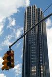 Светофор на круге Колумбуса, Нью-Йорке Стоковые Изображения