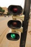 Светофор на пересечении Lomé, Того стоковое фото rf