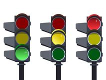 Светофор, последовательность светофора Стоковое Изображение