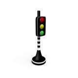 Светофор, 3D Иллюстрация вектора