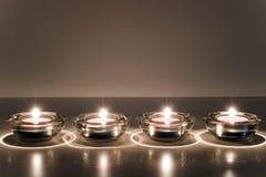 светы горящей свечи Стоковое Фото