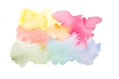 Светящаяся полива акварели красочных цветов Стоковое Фото