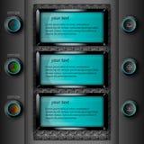 Светящее темное infographics Стоковое Изображение RF