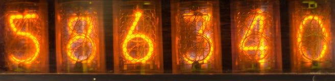 Светящий цифровой дисплей Стоковые Фото