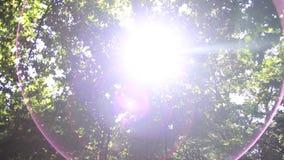 светя валы солнца сток-видео