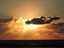 светя заход солнца Стоковая Фотография RF