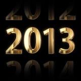 золотистая предпосылка 2013 год 3D Стоковая Фотография