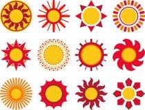 Светя комплект солнца Стоковая Фотография