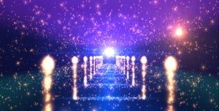 Светя обильная загоренная звездная дорога стоковые изображения rf