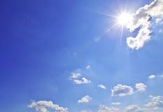 светя солнце Стоковые Фотографии RF