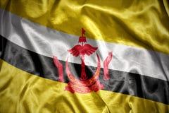 светя флаг Бруней Даруссалам Стоковое Изображение RF