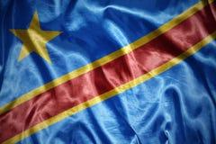светя флаг Демократической Республики Конго Стоковая Фотография